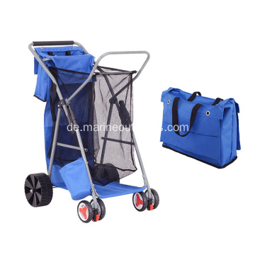 Outdoor tragbare multifunktionale Folding Beach Fishing Trolley Warenkorb